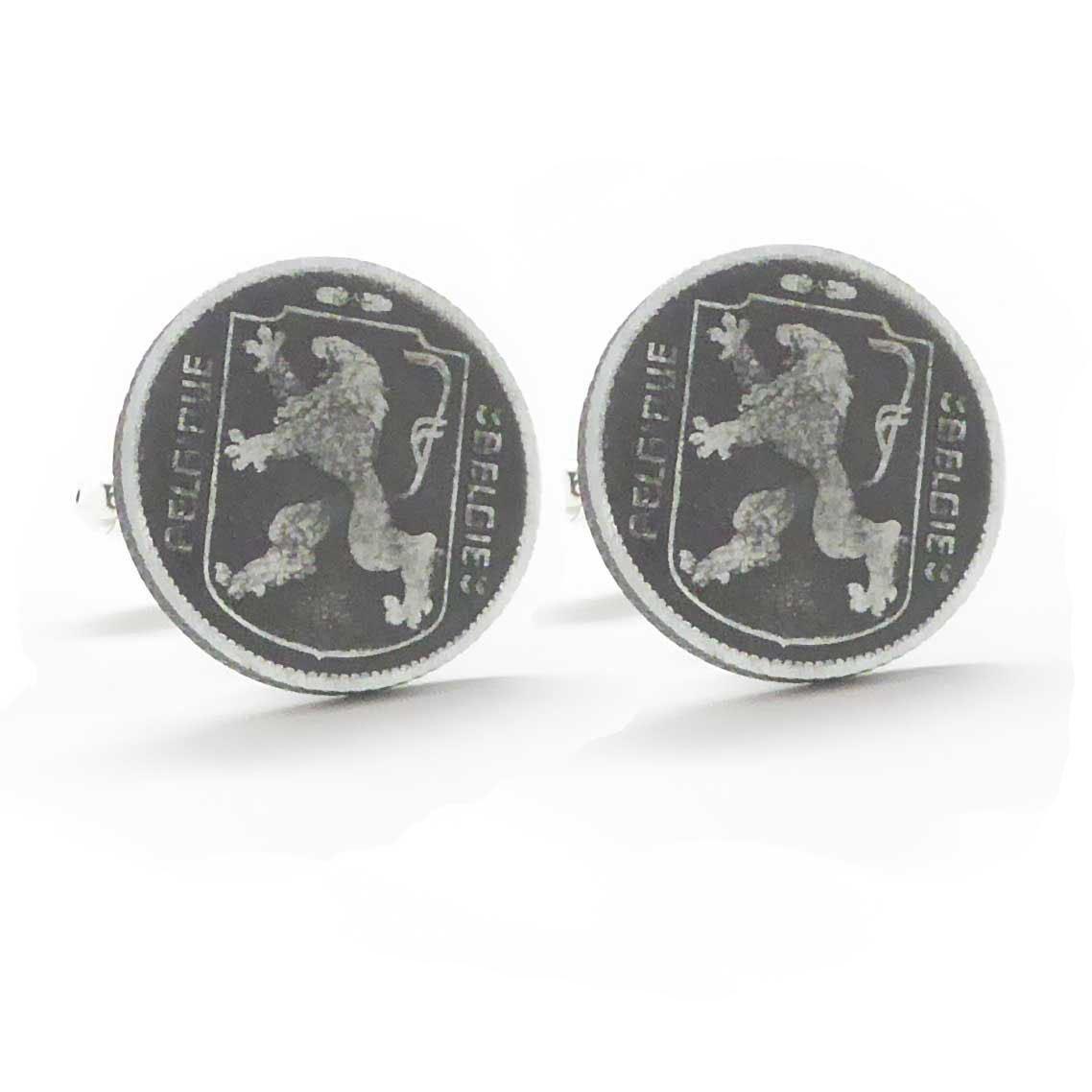 Belgium Coin Cufflinks Cuff Links Europe Belgie Belgique Dutch Flemish manchetknopen