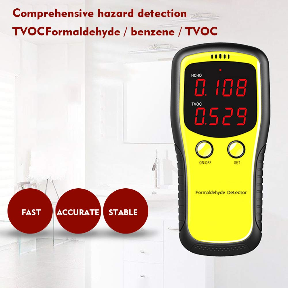 Mini Carbon Dioxide Air Detector KKmoon Air Quality Monitor for Formaldehyde//CO2 //HCHO//TVOC//LED Digital Display Meters Tester Protable Air Quality Tester
