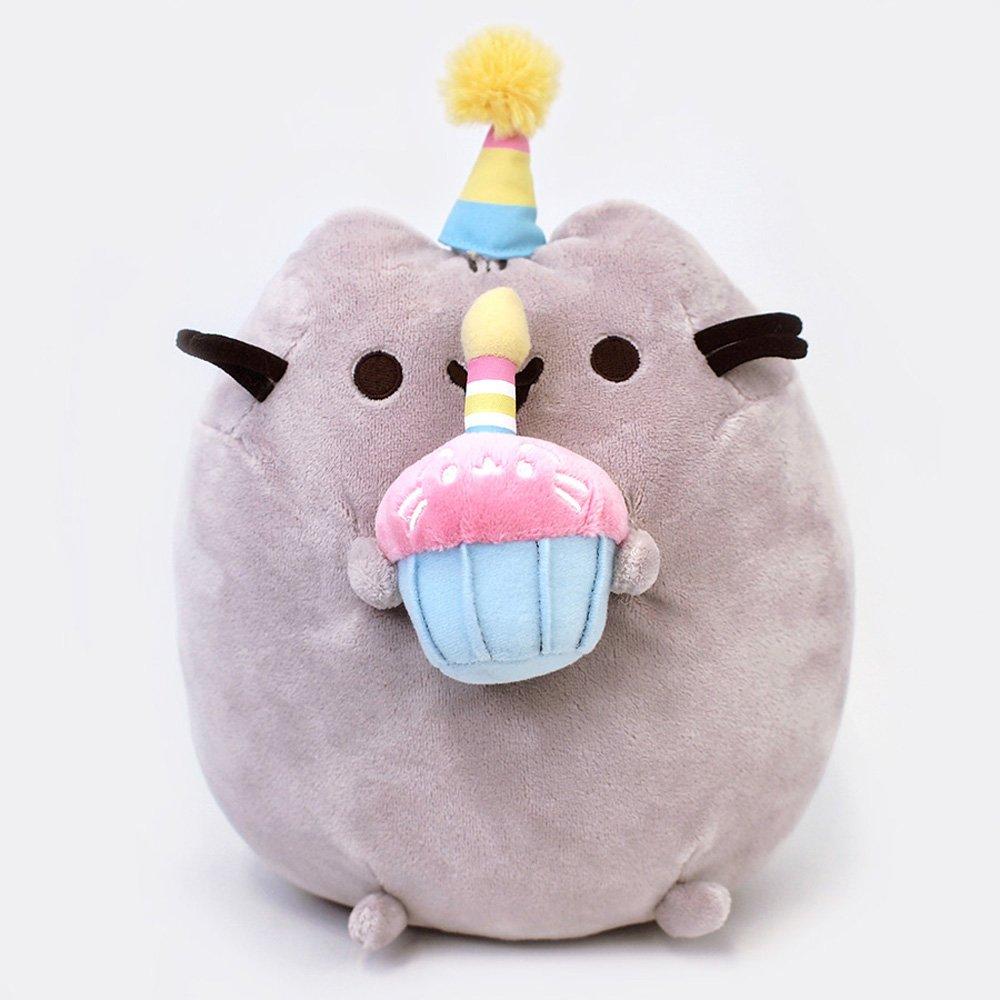 GUND Pusheen Snackables Birthday Cupcake Plush Stuffed Animal, Gray, 10.5'' by GUND (Image #4)