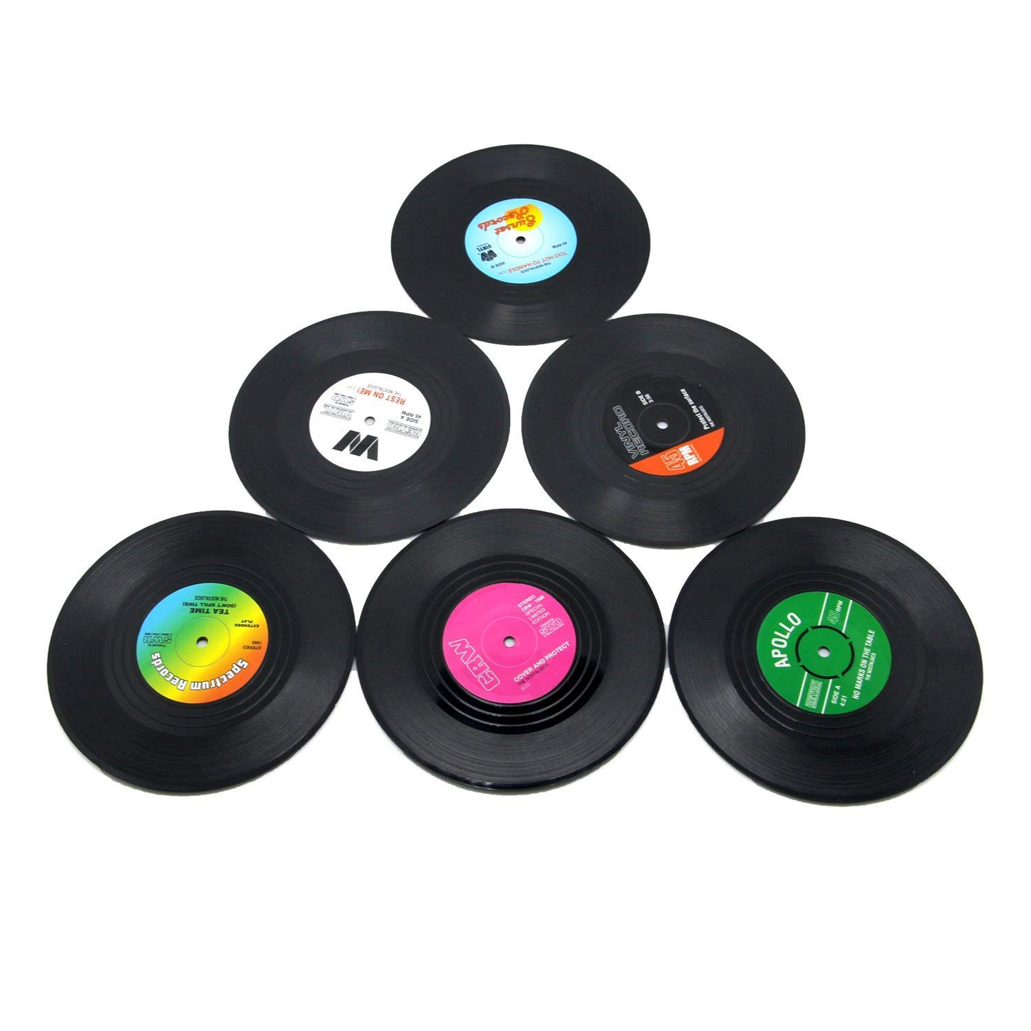 Coasters For Drinks By Hirun Set Of 6 Vinyl Record Retro Music Coasters Art Car Bar Tea Coffee Table Mug Beer Bottle Buy Online In Guernsey At Guernsey Desertcart Com Productid 33464916