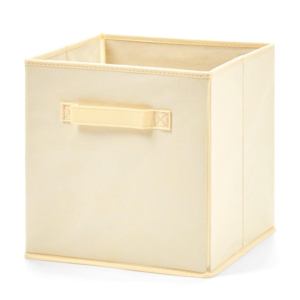 EZOWare Caja de Almacenaje con 6 pcs, Set de 6 Cajas de juguetes, Caja de Tela para Almacenaje, Beige: Amazon.es: Hogar