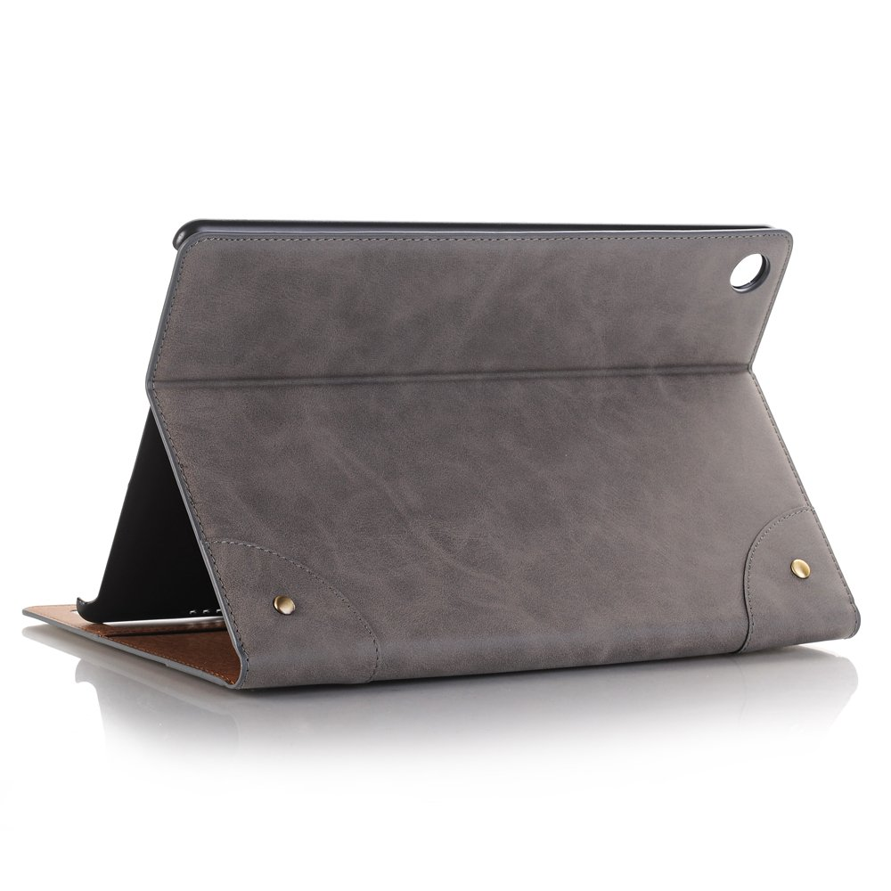FuriGer Case Compatible with Huawei Mediapad M5 10.8 Case Cover,Luxury Folio Case Stand with Card Slots PU Leather Smart Screen CASE for Huawei MediaPad M5 10.8 2018 Release-Gray