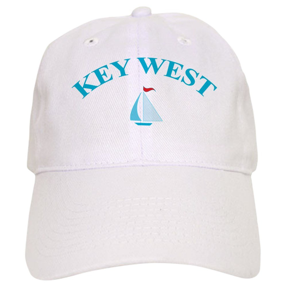 CafePress Key West Baseball Cap with Adjustable Closure, Unique Printed Baseball Hat White by CafePress