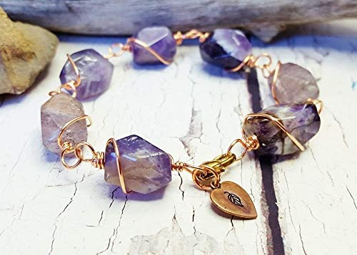 Fibromyalgia Necklace Diabetes Gemstone Healing Crystal Gift Amethyst