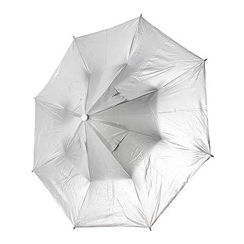 sourcingmap® Pesca caza al aire libre correa de barbilla plegable paraguas sombrero Headwear luz verde
