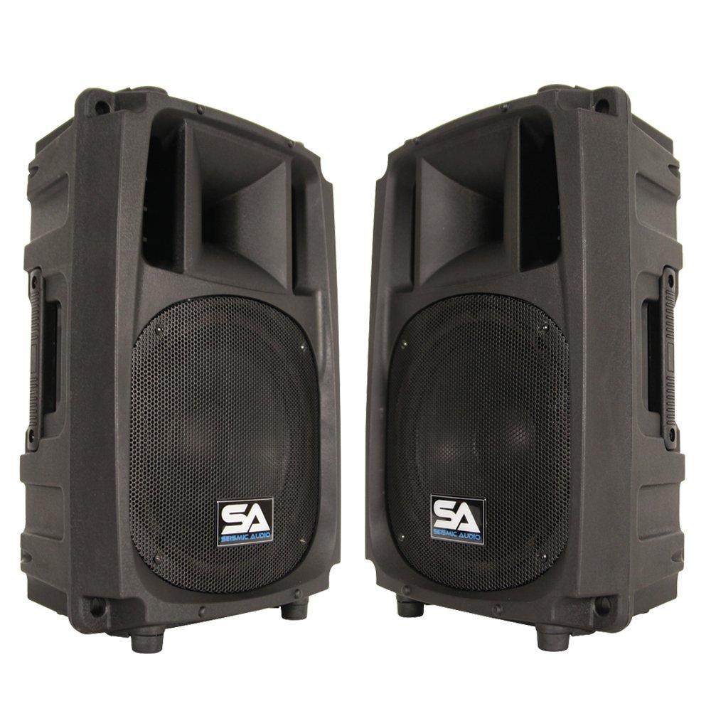 Seismic Audio S_Wave-10-Pair - Pair of 10'' 2-Way PA/DJ Speaker Cabinets - 10''