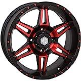 STI HD7 Wheel (Front/Rear / 14x7 4/137 5+2) (Matte Black/Red) for 16-17 Honda PIONEER1K-5