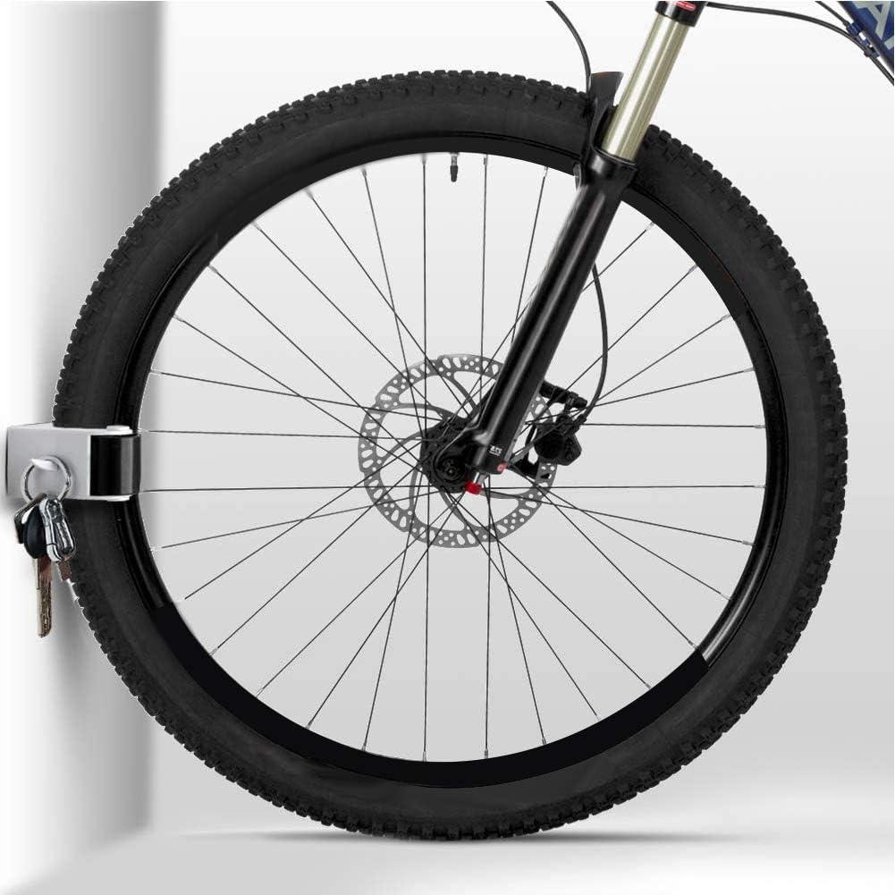clip para bicicleta de monta/ña Soporte de pared con hebilla de estacionamiento para bicicleta bicicleta de carretera hebilla de soporte para exhibici/ón de ciclismo para interior y soporte vertical con tornillos y tapas de expansi/ón