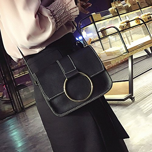 Señoras Mini Bolso señoras hombro gray bolso señoras negro bolso nuevo de SqrFxwS