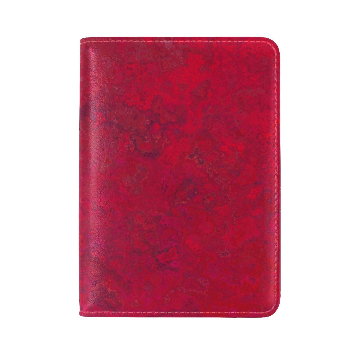 Texture Pink Spots Leather Passport Holder Cover Case Travel One Pocket