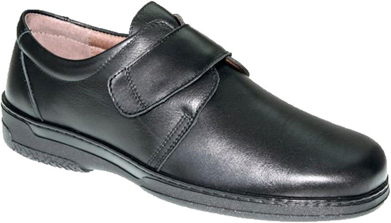 Zapato Velcro Hombre Especial para diabéticos Muy cómodo Primocx en Negro