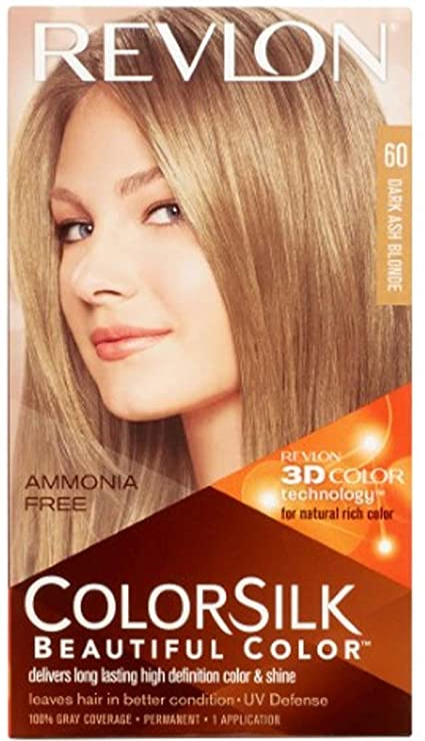 COLORSILK tinte Rubio Oscuro Cenizo Nº 60 caja 1 ud: Amazon ...