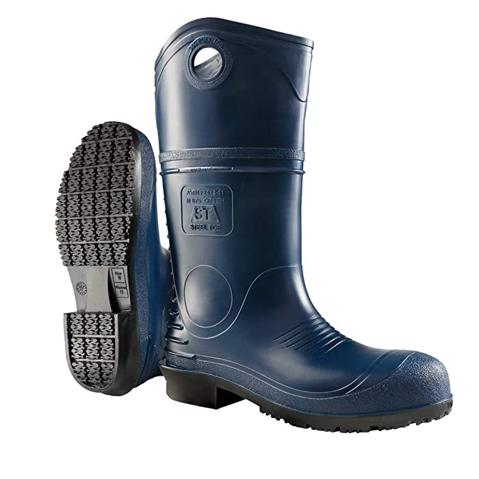 Dunlop 8908609 DURAPRO Boots with Safety Steel Toe, 100% Waterproof Polyblend PVC Material, Comfortable DURAPRO Energizing Insoles, Lightweight and Durable Protective Footwear, Size 9