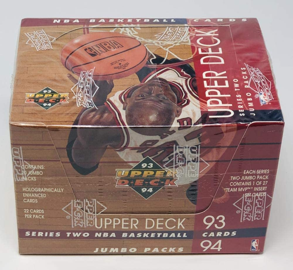 1993-94 Upper Deck Series Two Jumbo Packs Basketball Box