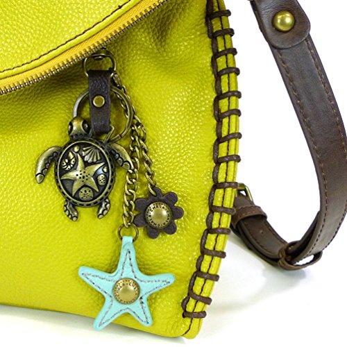 XBody Starfish Teal with Shoulder Colors Mustard Charm Purse Bronze 9 Handbags Sea Turtle Chala 8qF6WU