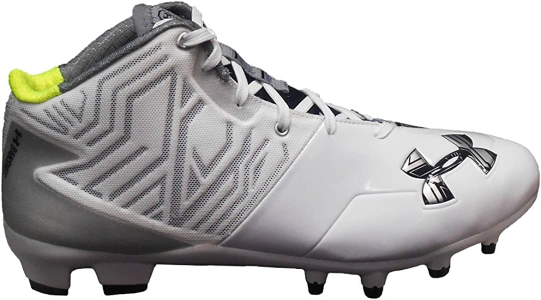 4e677cab0289 Under Armour Team Banshee Mid MC (13, White/Black/Metallic Silver)