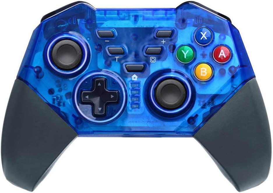 JFUNE Mando Inalámbrico para Nintendo Switch, Wireless Pro Switch Controller Controlador Bluetooth Gamepad 8.0 (Azul Switch Controller)