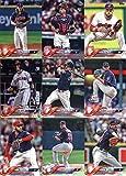 2018 Topps Cleveland Indians Team Set of 16 Baseball Cards (Series 1): Francisco Lindor(#10), Jay Bruce(#13), Josh Tomlin(#27), Corey Kluber(#31), Corey Kluber(#37), Danny Salazar(#38), Carlos Santana(#40), Andrew Miller(#75), Carlos Carrasco(#78), Greg Allen(#99), Carlos Carrasco(#120), Lonnie Chisenhall(#194), Mike Clevinger(#237), Cleveland Indians(#239), Francisco Mejia(#244), Jason Kipnis(#310)