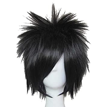 bb52bc442cb Amazon.com  XCOSER L Lawliet Wig Death Note L Cosplay Short Black Anime Wig   Beauty