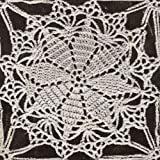 Vintage Crochet PATTERN to make - MOTIF BLOCK Lucky Star Round Tablecloth Design. NOT a finished item. This is a pattern and/or instructions to make the item only.