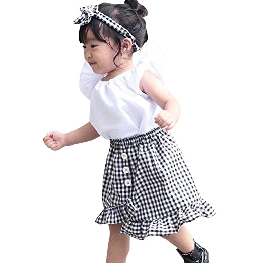 b50779b22 Amazon.com  2019 New Spring Summer Girls Outfits Set