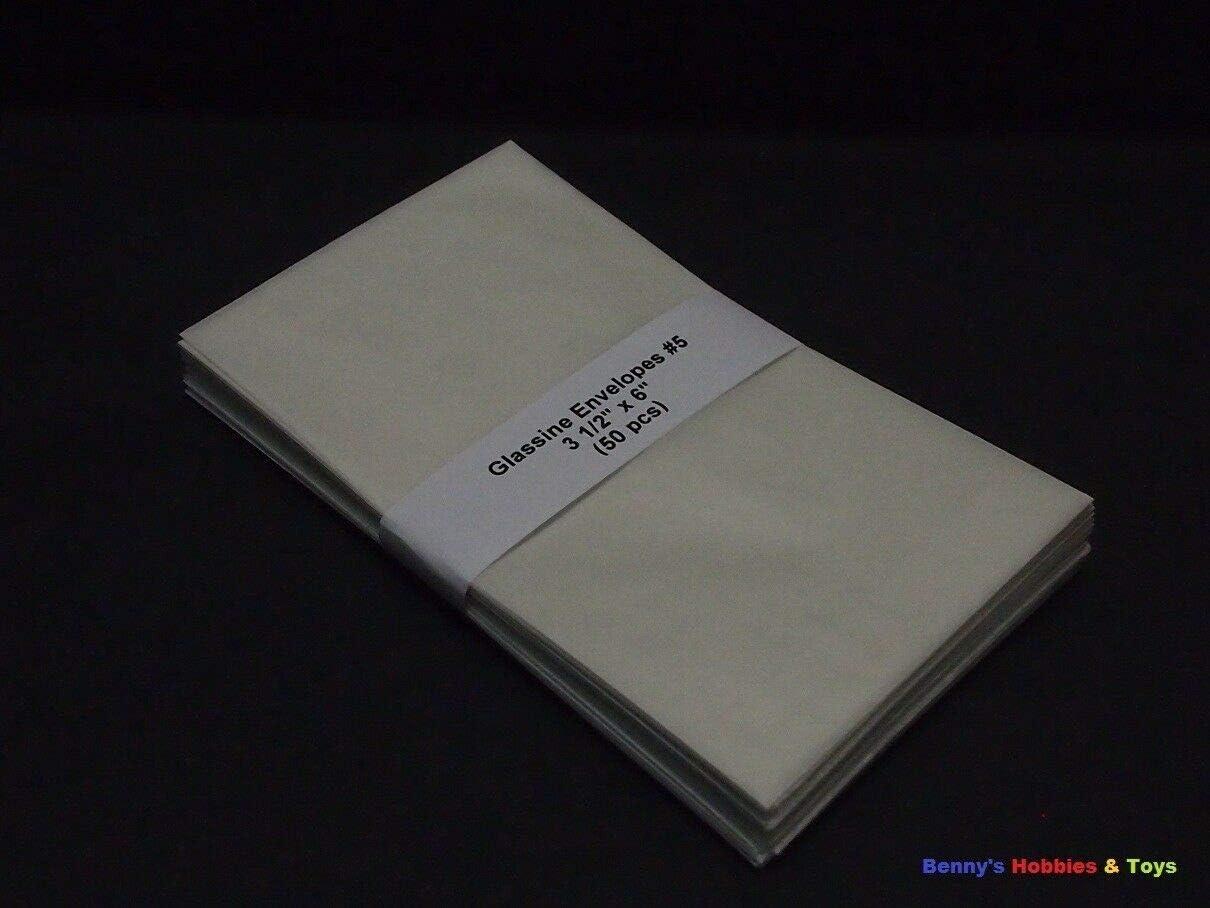 """50 New Glassine Envelopes #5-3 1/2"""" x 6"""" - Stamp Philately Supplies"""
