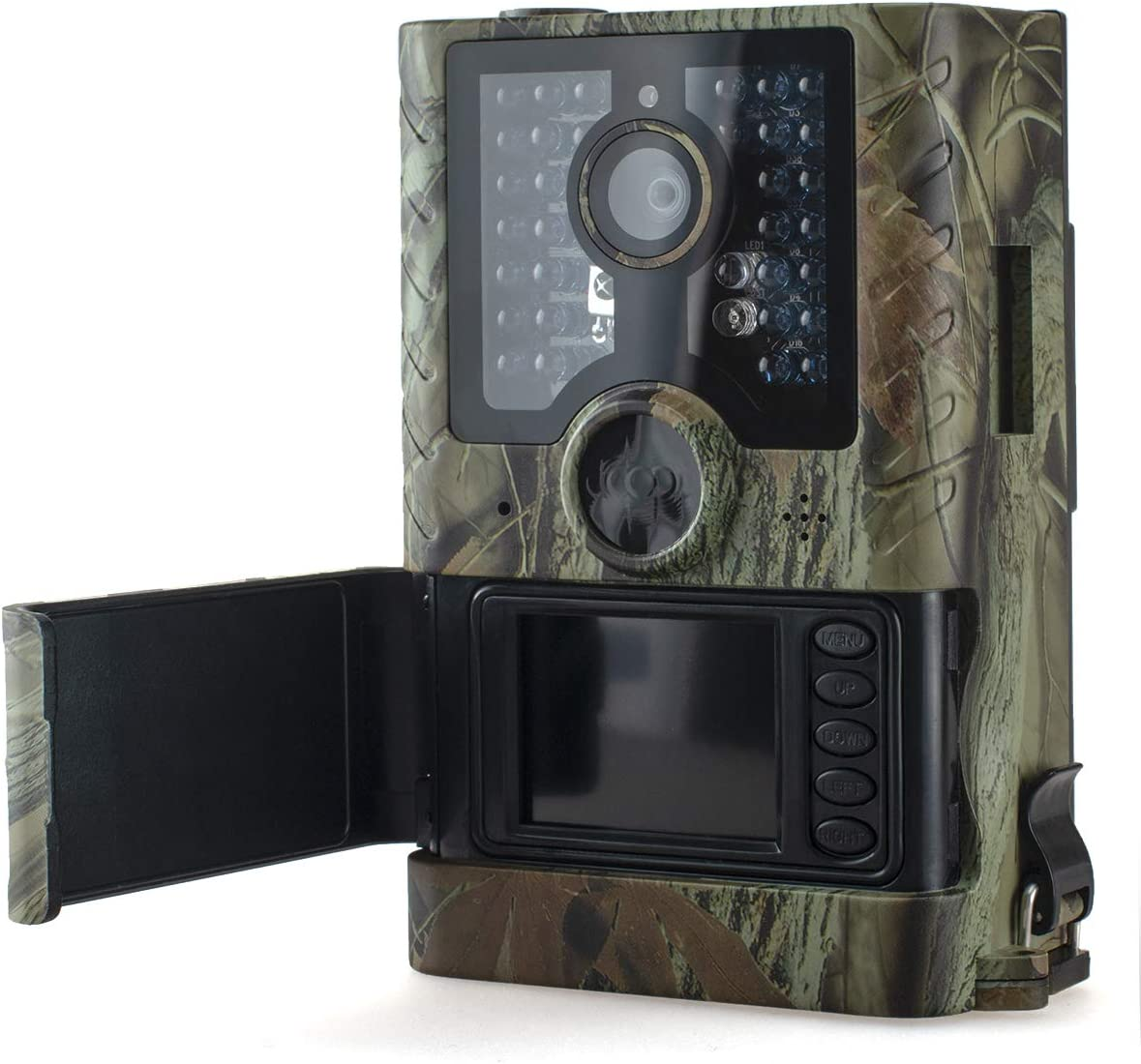 AILEMON Trail Camera 12MP 1080P Night Vision Hunting Game Camera 125° Detecting Range Motion Activated IP56 Waterproof for Outdoor Wildlife Monitoring