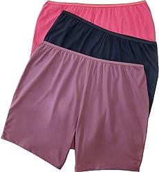 3e77015ce Comfort Choice Women s Plus Size 3-Pack Cotton Boxer