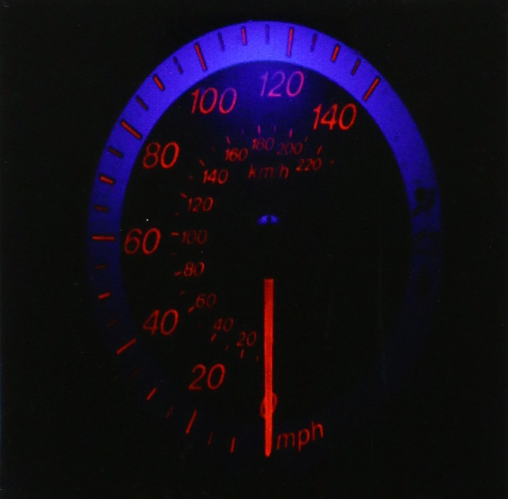 3dRose CST/_80570/_3 Auto Speedometer Glows in The Dark-Ceramic Tile Coasters Set of 4