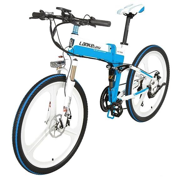 Extrbici xt-750 bicicleta eléctrica plegable 26 x 17 inch aleación de aluminio plegable marco completo suspensión bicicleta 240 W 36 V recargable de litio ...