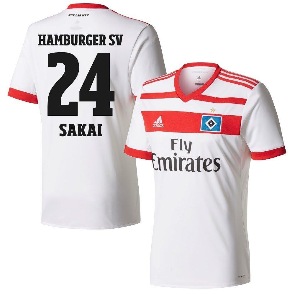 Hamburger SV Home Trikot 2017 2018 + Sakai 24 (Fan Style) - S