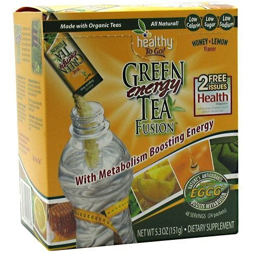 To Go Brands Honey Lemon Green Tea Energy Fusion - 24 packets per pack -- 3 packs per case. by Healthy To Go by Healthy To Go