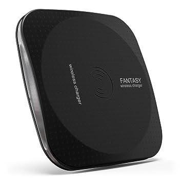 Wireless Cargador, rhidon ultrafina Qi Wireless Charger Pad con carga inductiva para Samsung Nexus Nokia Galaxy Note 5, LG G4, Galaxy S6 y todos los ...