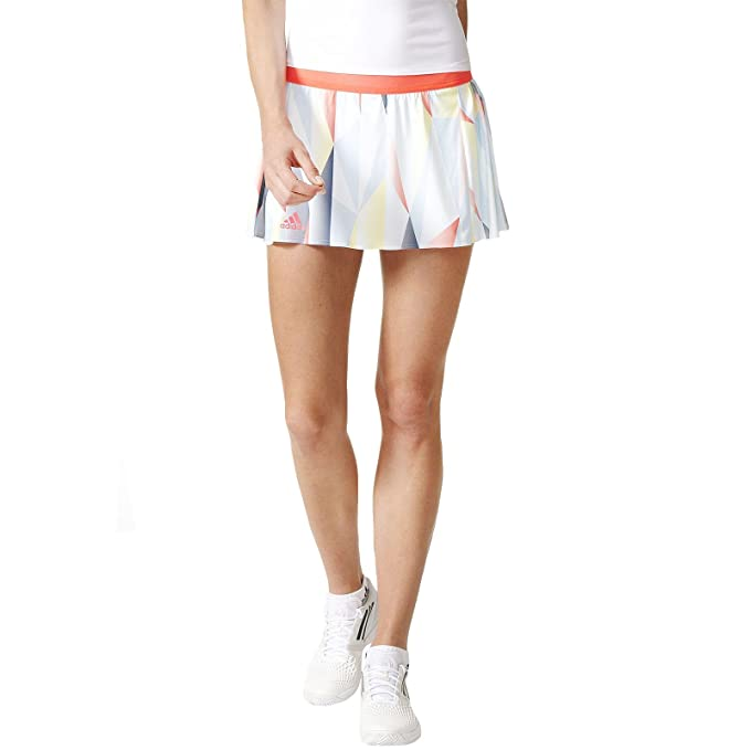 adidas Pro Skort Falda pantalón, Mujer, (Blanco/Rojdes), S: Amazon ...