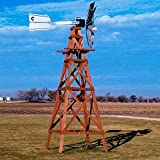 Outdoor Water Solutions Red Cedar Aeration Windmill - 16 Foot