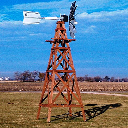 Outdoor Water Solutions Red Cedar Aeration Windmill   16 Foot