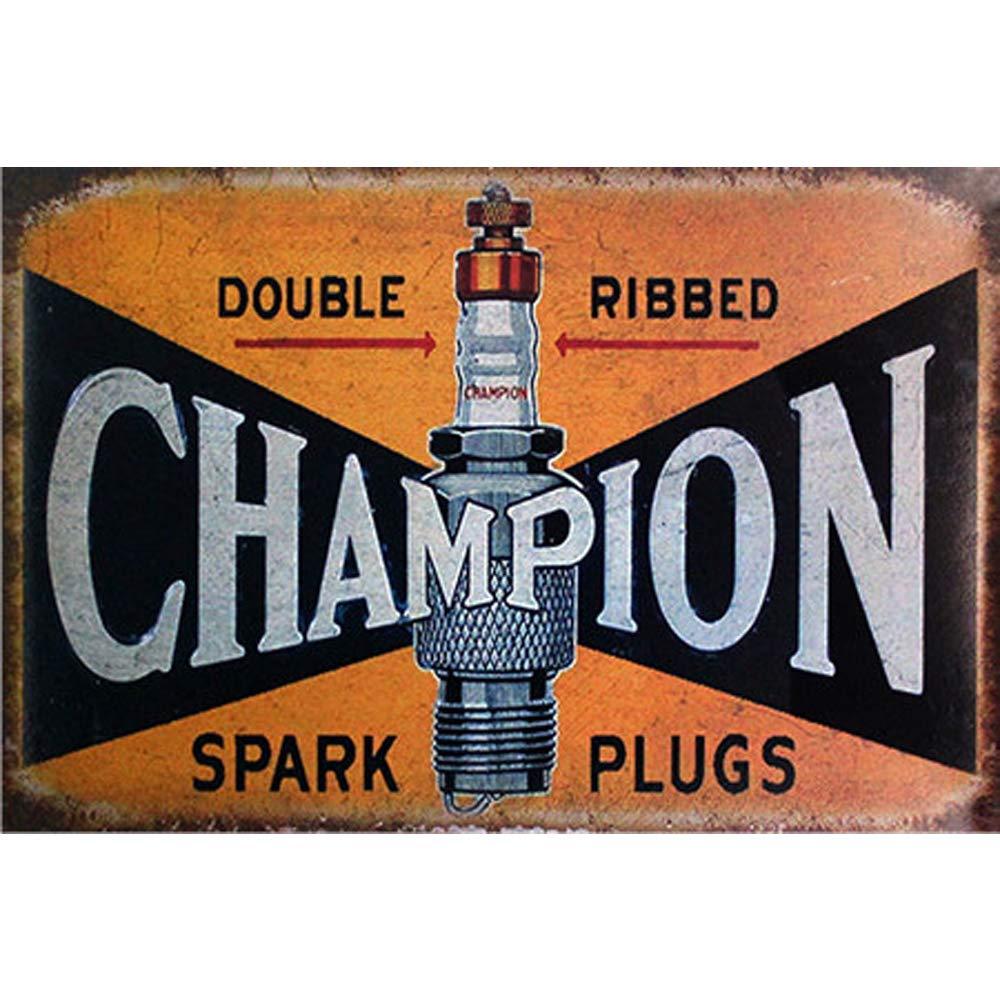 20/x 30/cm, doppia accensione a costine segni divertente wall art Decor Easy Painter Champion Tin Sign per conservare Home Room bar caff/è yard retro in metallo