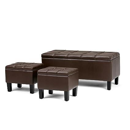 Stupendous Amazon Com Efd Storage Ottoman Decorative Set Of 3 Box Machost Co Dining Chair Design Ideas Machostcouk