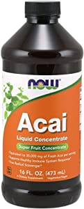 NOW Supplements, Acai Liquid, Supports Healthy Immune System Response*, Super Fruit Concentrate, 16-Ounce