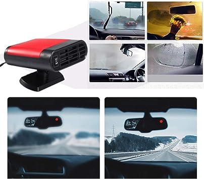 grau Queta Auto Heizl/üfter Auto Heizung 12V 150W tragbare Autoheizung und kalter L/üfter 2 in 1 Funktion f/ür kleine und mittlere Autos Autoentfroster