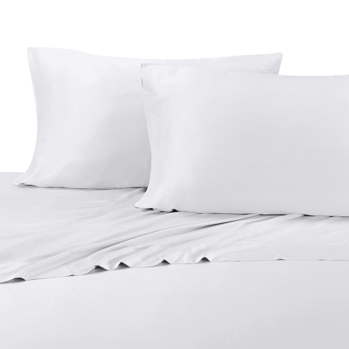100% Bamboo Bed Sheet Set - Twin Extra Long (XL), Solid White - Super Soft & Cool, Bamboo Viscose, 3PC Sheets