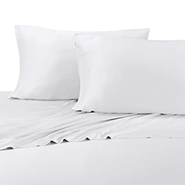 100% Bamboo Bed Sheet Set - Queen, Solid White - Super Soft & Cool, Bamboo Viscose, 4PC Sheets