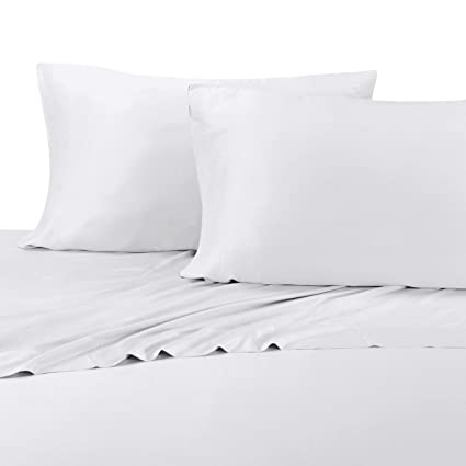 100% Bamboo Bed Sheet Set   Queen, Solid White   Super Soft U0026 Cool
