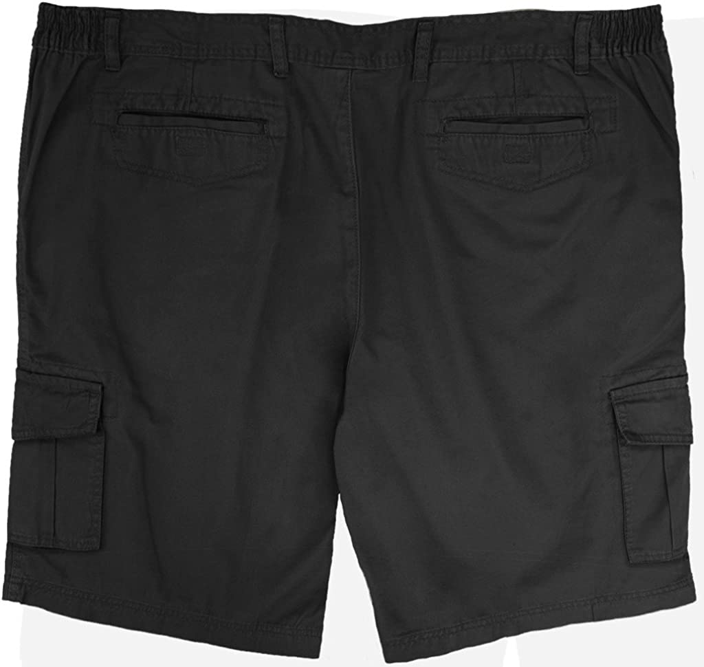 """The Foundry Big /& Tall Men/'s Stretch Waistband Cotton Shorts-10/"""" Inseam"""