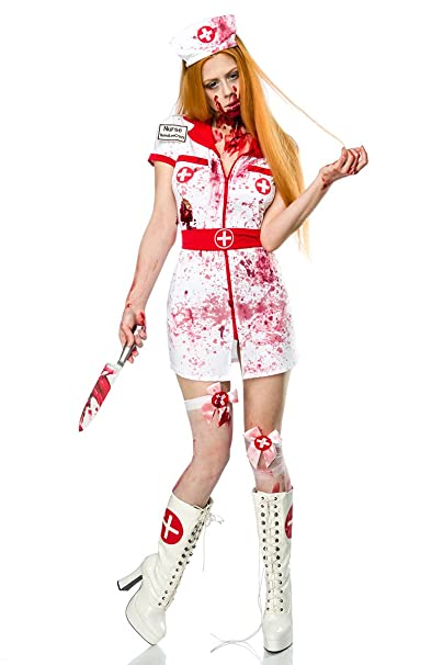 MASK PARADISE Donna Zombie Costume da Infermiera Set Travestimento Horror  Nurse Mini Abito  Amazon.it  Abbigliamento c2fb2ef9e77e