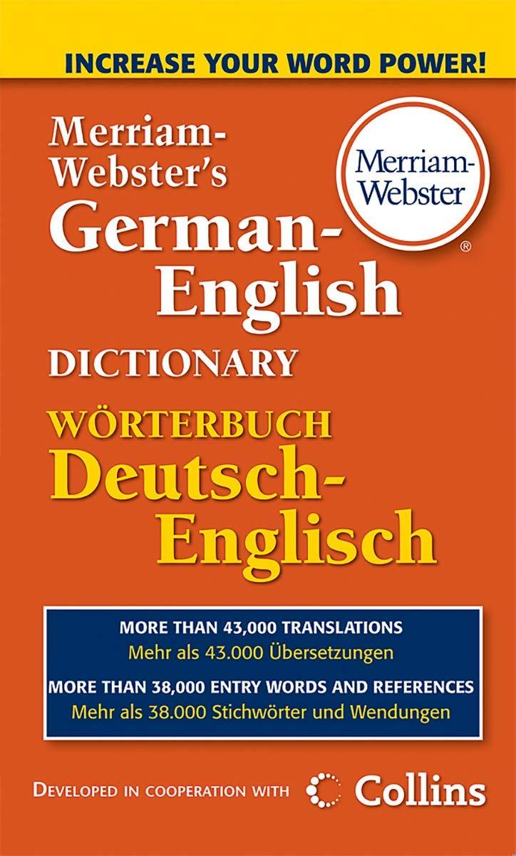 Merriam Webster's German English Dictionary  Merriam Webster ...