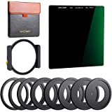 K&F Concept 100x100mm Square Filter Kit ND1000 (10 Stop) with One Filter Holder and 8 Filter Ring Compatible with Canon…