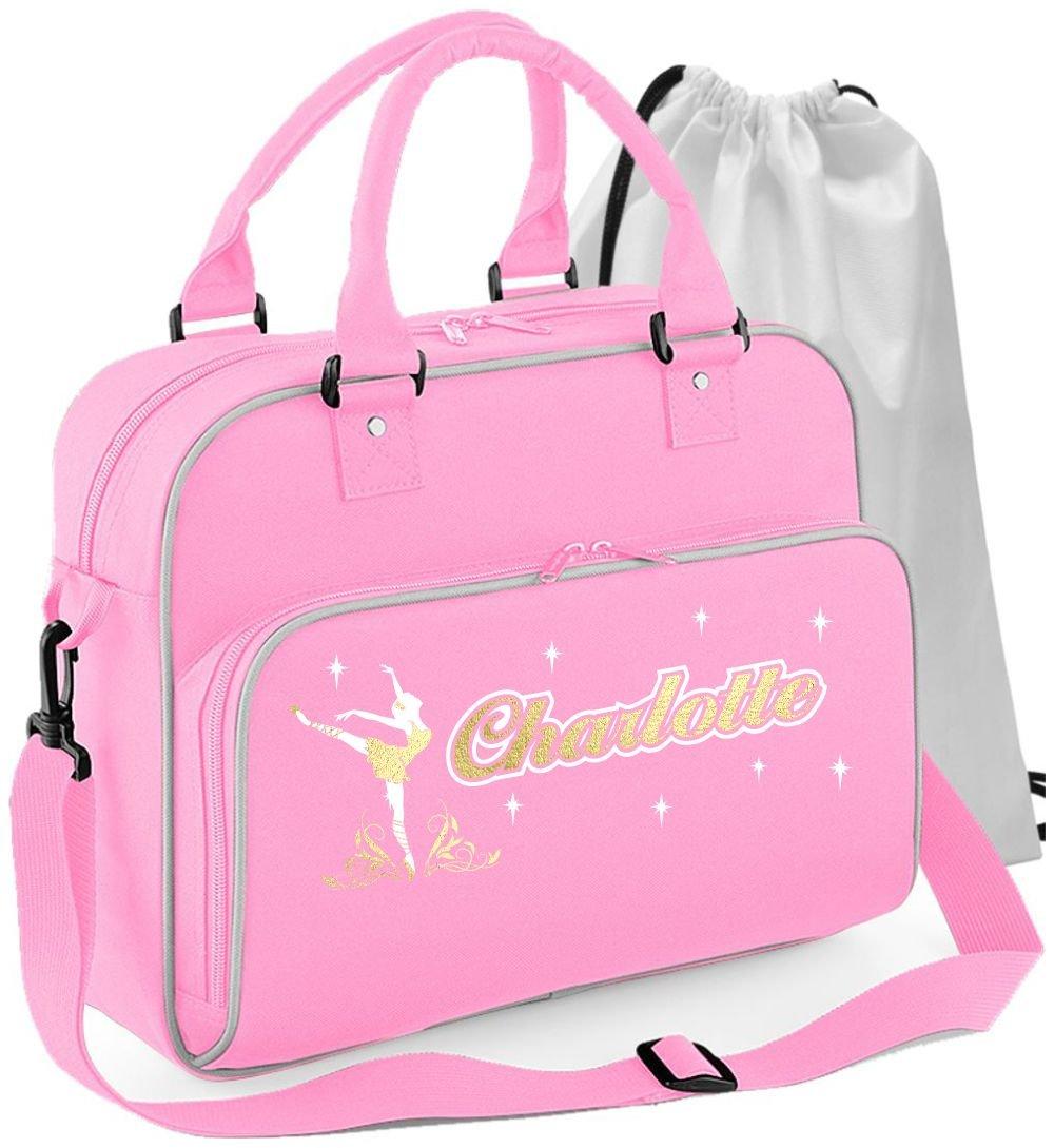 MusicaliTee Ballet Dancer - On Pointe - Personalised Custom Dance Bag & Drawstring Shoe Backpack