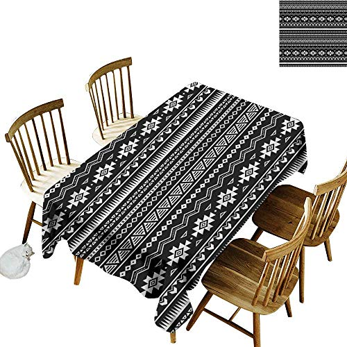 Sillgt Resistant Table Cover Aztec Archeology History and Art Fashions Rectangular 52
