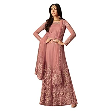 Amazon.com: Ropa de trabajo india étnica rosa recta floral ...